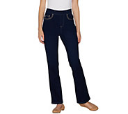 Belle by Kim Gravel Flexibelle Reg Stitched 5-Pkt Boot-Cut Jeans - A301834
