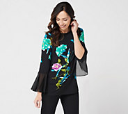 Susan Graver Printed Liquid Knit Top - A302634
