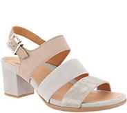 Earth Suede Triple Strap Block Heeled Sandals- Tierra - A304634