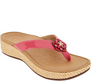 Vionic Embellished Leather Thong Sandals - Mimi - A305634