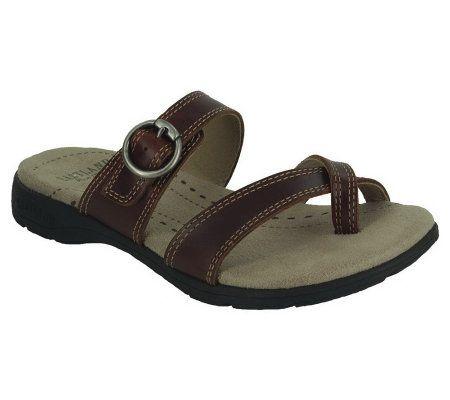 Eastland Women S Stray Toe Loop Sandals Qvc Com
