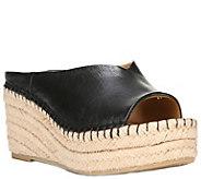 Franco Sarto Wedge Espadrille Slide Sandals - Pine - A357334