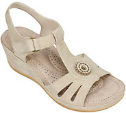 Cliffs by White Mountain Wedge T-Strap Sandals- Fabia - A358034