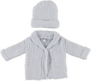Barefoot Dreams CozyChic Infant Cardigan and Hat - A360534