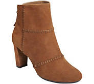 Aerosoles Suede Ankle Booties - First Ave - A360934