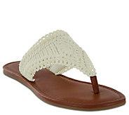 MIA Shoes Flat Thong Sandals - Mae - A411634