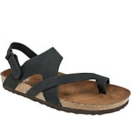 White Mountain Suede Leather Sandals - Huntsville - A412334