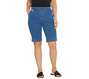 Denim & Co. How Timeless Stretch Flat Front Shorts - A89434