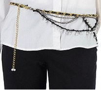 Kelli Kouri Glitz & Glamour Adjustable Belt/Necklace - A215735