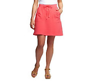 Susan Graver Weekend French Terry Skort with Pockets - A224335