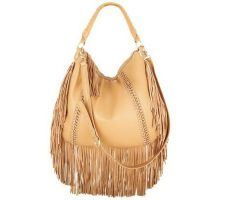 Jensen Blake Lamb Leather Fringe Hobo