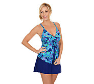 Ocean Dream Signature Flyaway Tankini with Skirt - A252635