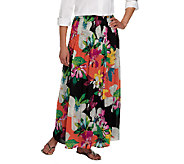 Sunny Leigh Release Pleat Pull-on Maxi Skirt with Lining - A253935