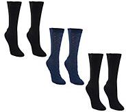 Passione Xpandasox Set of 3 Cotton Crew Socks - A259535