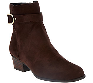 Liz Claiborne New York Ankle Boots with Horsebit Detail