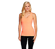 cee bee CHERYL BURKE V Neck Tank with Shelf Bra - A261535