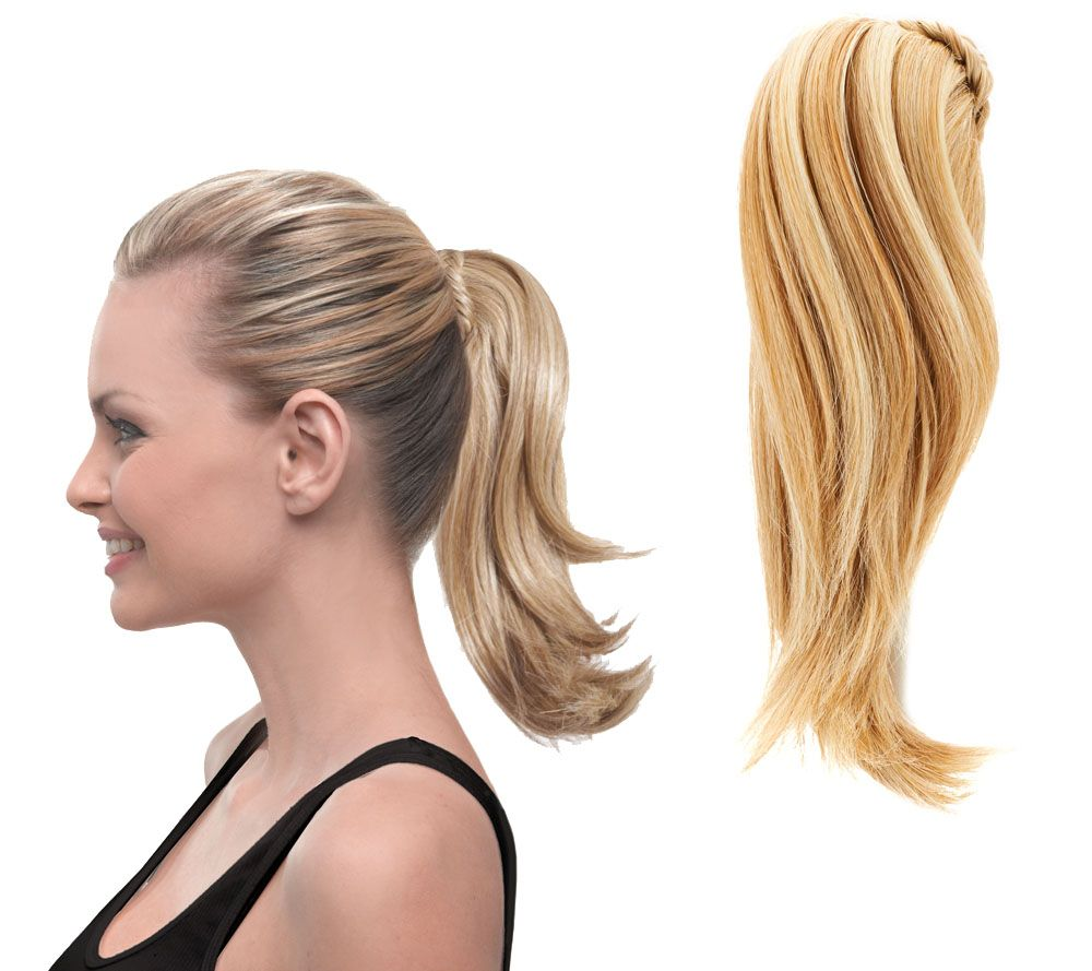 Hairdo wigs extensions hair care beauty qvc hairdo 10 clip in pony with braid a263335 pmusecretfo Image collections