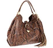 As Is G.I.L.I. Stirrup Leather Hobo Bag - A267635