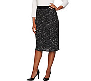 Linea by Louis DellOlio Textured Knit Midi Skirt - A268135