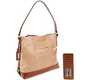As Is Tignanello Distressed Leather Hobo