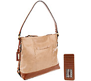 As Is Tignanello Distressed Leather Hobo - A269435