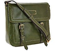 As Is Tignanello Distressed Vintage Leather Crossbody Bag - A275935