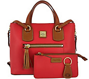 Dooney & Bourke Leather Shopper with Accessories - A279635