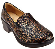 As Is Alegria Leather Slip-ons with Side Goring - Emma - A280635