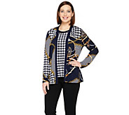 Susan Graver Printed Liquid Knit Cardigan and Tank Set - A286735