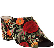 As Is Sole Society Suede Peep-Toe Mules - Luella - A289935