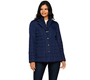 As Is Dennis Basso Water Resistant Quilted Blazer - A291535