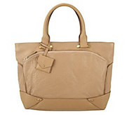 As Is Allibelle Bubble Leather Plateau Tote - A293235