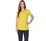 As Is C. Wonder Essentials Slub Knit Curved Hem T-shirt - A298035