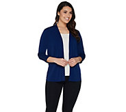 Every Day by Susan Graver Liquid Knit Cardigan with Lacing Detail - A301135