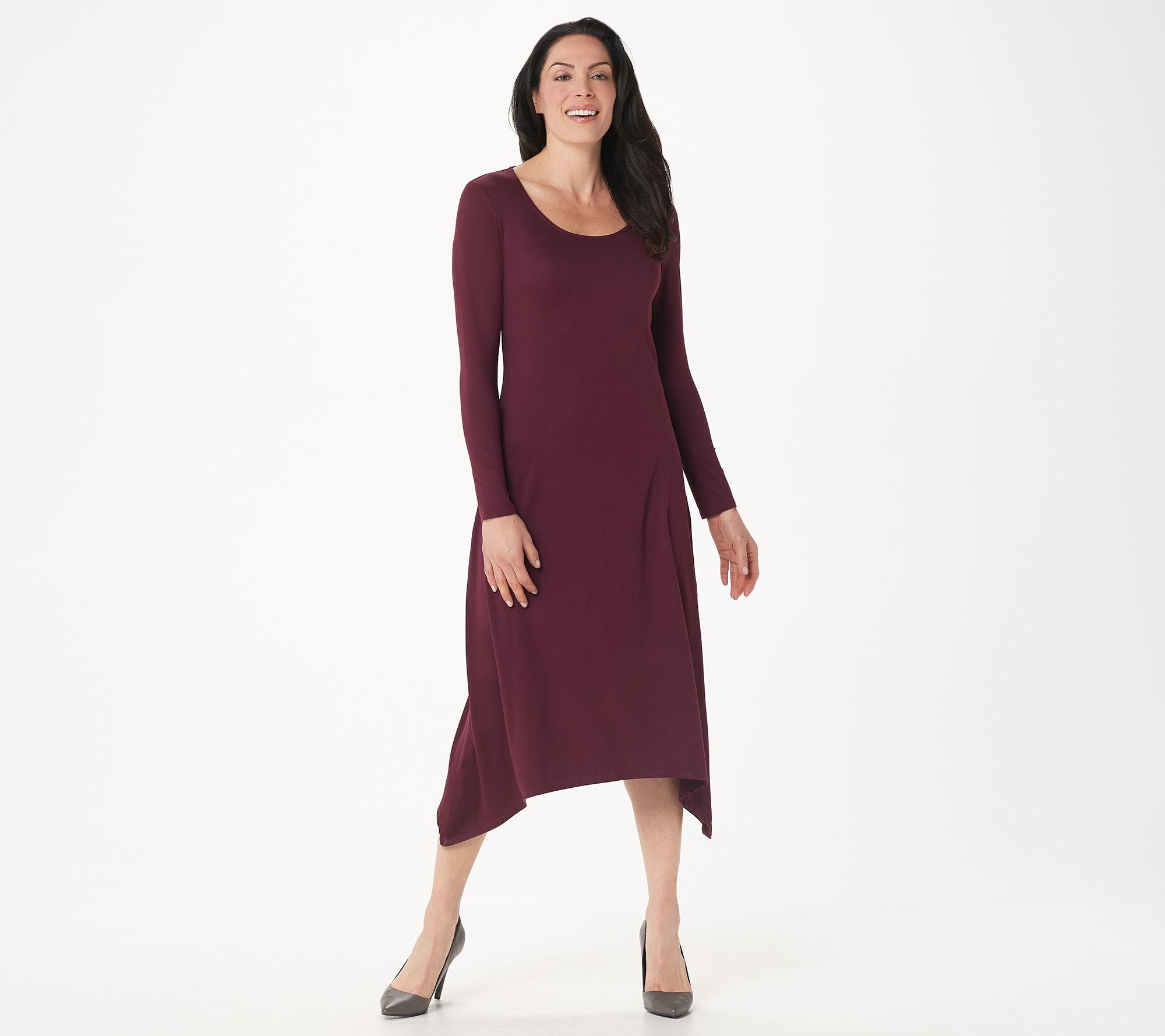 Kim long sleeve scoop back maxi dress