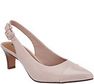 Clarks Leather Mid Heel Slingbacks - Crewso Emmy - A303035