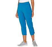 Denim & Co. Active French Terry Curved Hem Crop Pant - A303135