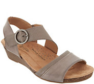 Earth Origins Leather Wedge Sandals - Hazel - A304635