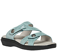 Propet Leather Slide Sandals w/ Adj. Straps - St. Lucia - A336835