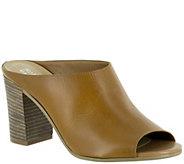 Bella Vita Leather Block Heel Clogs - Savona - A339135