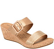 Comfortiva by Softspots Slide Wedge Sandals - Sherry - A339835