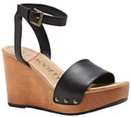 Sole Society Leather Studded Wedge - Sahara - A340735