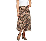 Newsworthy Printed Fully Lined Georgette Skirt - A59035