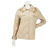 Quacker Factory Golden Beaded Jacket - A217036