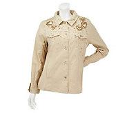 Quacker Factory Golden Beaded Jacket - A217036