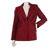 George Simonton Lace Jacquard One Button Blazer with Pop Lining - A218436