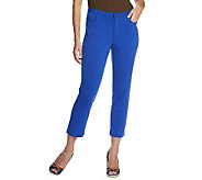 Isaac Mizrahi Live! Icon Grace Ponte Knit Crop Pants - A232236