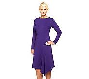 Linea by Louis DellOlio Asymmetrical Hem Ponte Knit Dress - A238536