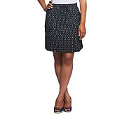As Is Susan Graver Printed French Terry Pull-on Skort - A241036