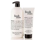philosophy fresh cream super-size shower gel & scrub duo - A255436